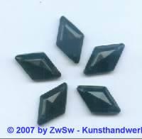 1 Strass/Rautenform 18mm x 10mm (schwarz)