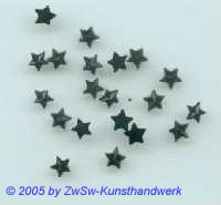 1 Strass/Sternchenform (schwarz), Ø 5mm