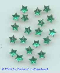 Strass/Sternchenform (smaragd), Ø 5mm 1 Stück