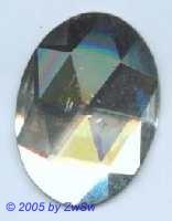 Aufnähstein, 1 Stück, 40 x 30mm Glas (kristall)