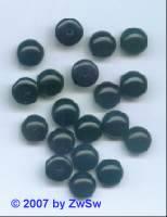 1 Muggelstein schwarz mit Halbbohrung, Ø 10mm