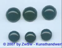 1 Muggelstein schwarz, Ø 13mm