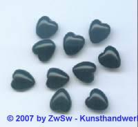 1 Muggelherz schwarz, 10mm x 9mm