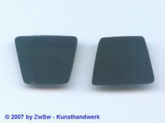 2 Glasplatten schwarz, 22mm x 17mm