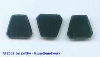 3 Glasplatten schwarz, 15mm x 14mm