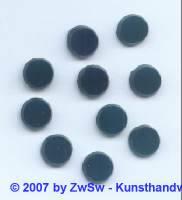 1 Glasplatte schwarz, Ø 10mm