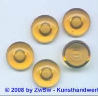 1 Muggelstein topas mit Luftblase Ø 16mm (ov)