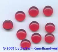 1 Muggelstein rubin Ø 13mm (ov)