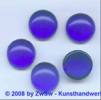 1 Muggelstein blau, Ø 18mm (ov)