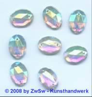 Strassstein 1 Stück, 18mm x 13mm (kristall/AB)