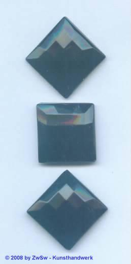 Strassstein 1 Stück, 20mm x 20mm (schwarz)