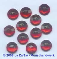 Strassstein 1 Stück, Ø 15mm (rot)