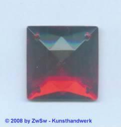 Strassstein 1 Stück, 25mm x 25mm (rubin)