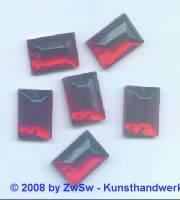 Strassstein 1 Stück, 14mm x 10mm (rot)