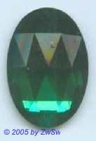 Solitärstein 1 Stück, 24mm x 18mm  (smaragd)