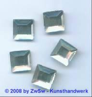 Strassstein 1 Stück, 12mm x 12mm (kristall)