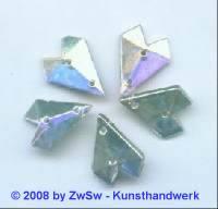 Strassstein 1 Stück, 15mm x 12mm (kristall/AB)