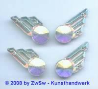 Strassstein 1 Stück, 25mm x 11mm (kristall/AB)