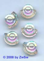 Strassstein 1 Stück, 18mm x 14mm (kristall/AB)