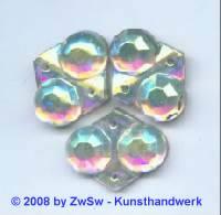 Strassstein 1 Stück, 18mm x 15mm (kristall/AB)