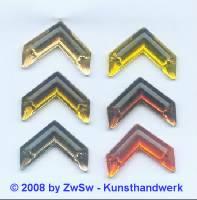 Strassstein 1 Stück, 20mm x 15mm (lichtgelb)