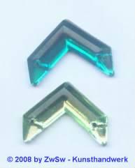 Strassstein 1 Stück, 20mm x 15mm (petrol)