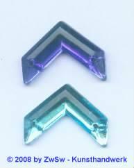 Strassstein 1 Stück, 20mm x 15mm (blau)