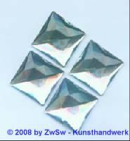 Quadrat, 25mm x 25mm, kristall