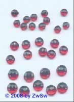 Strassstein/nähen 1 Stück,  Ø 4mm, rot, Acrylglas