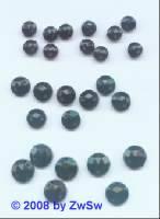 Strassstein/nähen 1 Stück,  Ø 4mm, schwarz, Acrylglas