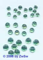 Strassstein/nähen 1 Stück,  Ø 4mm, grün, Acrylglas