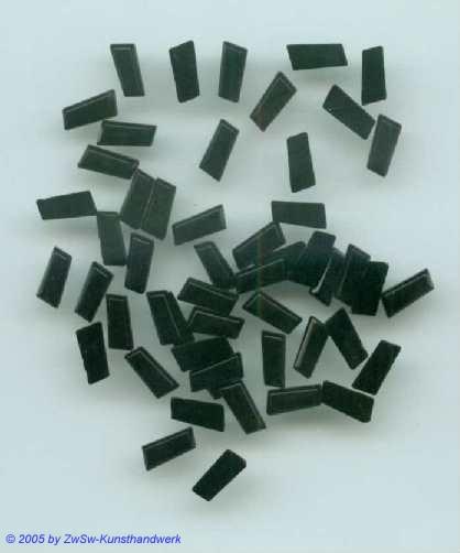 1 Strass/Stäbchenform  (schwarz) 7mm x 3mm
