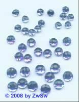 Strassstein/nähen 1 Stück,  Ø 4mm, blau, Acrylglas