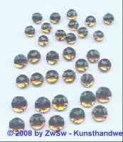 Strassstein/nähen 1 Stück,  Ø 4mm, dunkeltopas, Acrylglas
