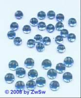 Strassstein/nähen 1 Stück,  Ø 5mm, capriblau, Acrylglas