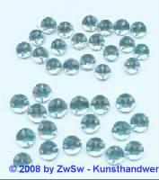Strassstein/nähen 1 Stück,  Ø 5mm, hellblau, Acrylglas