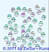 Strassstein/nähen 1 Stück,  Ø 5mm, kristall/AB, Acrylglas