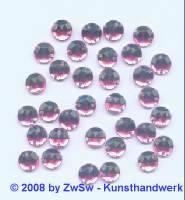 Strassstein/nähen 1 Stück,  Ø 6mm, kräftigrosa, Acrylglas