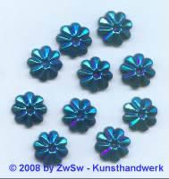 1 Strassstein in Form einer Blüte (scarabeus/AB), Ø 13mm