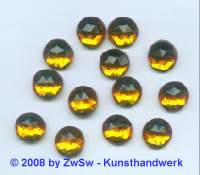 Strassstein, 1 Stück, Ø 11mm (topas)