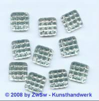 Strassstein, 1 Stück, 12mm x 12mm  (kristall)