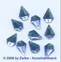 Strassstein, 1 Stück, 14mm x 10mm  (blau)