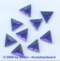 Strassstein, 1 Stück, Kante 13mm  (blau)