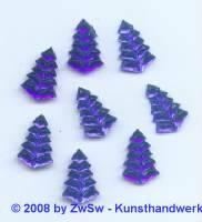 1 Strassstein Tannenbaum (blau) 15mm x 10mm