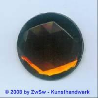 Strassstein, 1 Stück, Ø 30mm  (dunkeltopas)