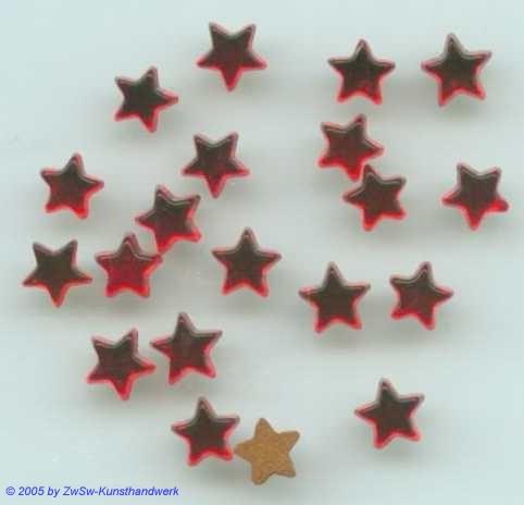 1 Strass/Sternchenform (rot), Ø 5,5mm