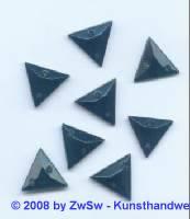 Strassstein, 1 Stück, 13mm x 13mm, (schwarz)
