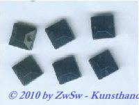 Strassstein, 1 Stück, 8mm x 8mm, (schwarz)
