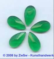 Strassstein, 1 Stück, 20mm x 11mm, (grün)