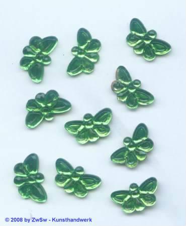 Strassstein, 1 Stück, 17mm x 10mm, (grün)